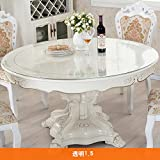 HRCGFHGFHXH Tablecloth/round,[soft glass],pvc table mat/transparent,waterproof tablecloths/table cloth/crystal plate/coffee table mat-A diameter150cm(59inch)