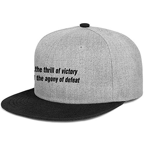 RANYG The-Thrill-of-Victory-and-The-Agony-of-Defeat. Men Women Cool Flat Brim Dad Hat Snapback Golf Cap