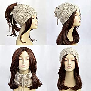 6e1348a46a037 Ponytail Hat Knitted Hat Womens Hat Ponytail Beanie Bonnet Femme Beanie  With Hole Knit Hat With Ponytail Hole Beanie With Ponytail Hole Mütze Ponytail  Hole ...