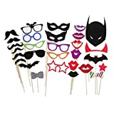 30 Pcs Colorful Photo Booth Props on a Stick Cosplay Halloween Party Fun Party Favor