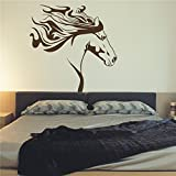 WALL'S MATTER Removable Wall Sticker Horse Silhouette Western Wall Art Mural Vinyl Decal