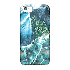 OtvYWVT7288lNaCV ConnieJCole Awesome Case Cover Compatible With Iphone 5c - Blue Wolf