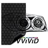 VViViD Hex+ Dark Smoke High Gloss Air-Tint Headlight Vinyl 17.9 Inch x 60 Inch Roll