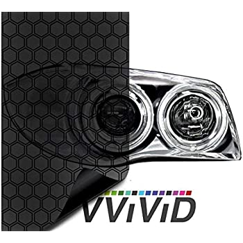 VViViD Hex+ Dark Smoke High Gloss Air-Tint Headlight (17.9