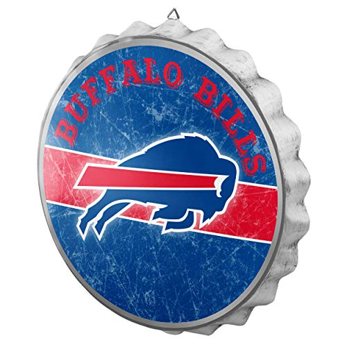 FOCO NFL Buffalo Bills Metal Distressed Bottlecap Wall Signmetal Distressed Bottlecap Wall Sign, Team Color, One Size