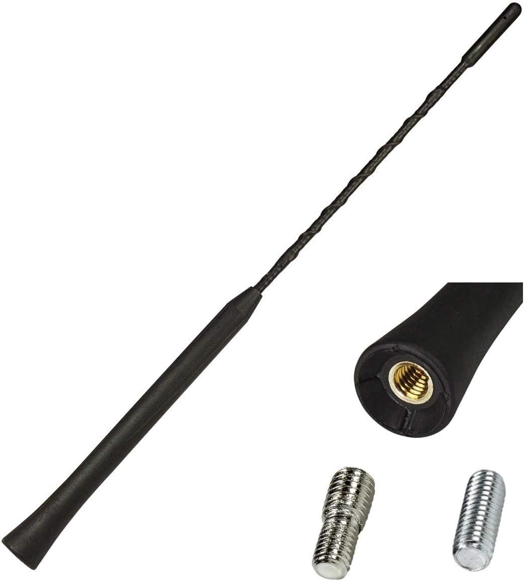 tomzz Audio 1200-002 Universal 16v Barra Corta Barra de Repuesto Antena Barra de Repuesto radiador Corto 28 cm (m5 m6), Anti Ruido, Adecuado para ...