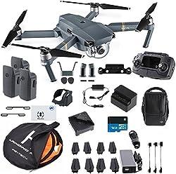 Dji Mavic Pro Fly More Combo Safety Bundle, Extra 80 Cm Portable Landing Pad & Tfstoys Lens Hood, Landing Gear & More