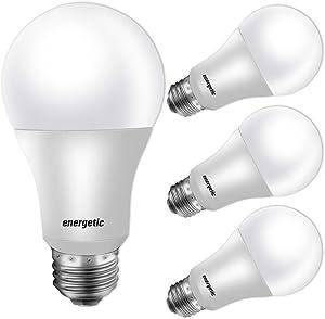 40W Equivalent A19 LED Light Bulb, Warm White 3000K, E26 Standard Base, UL Listed, Non-Dimmable LED Light Bulb, 4-Pack