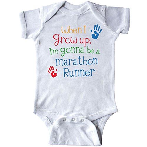 inktastic Marathon Runner Future Infant Creeper Newborn White