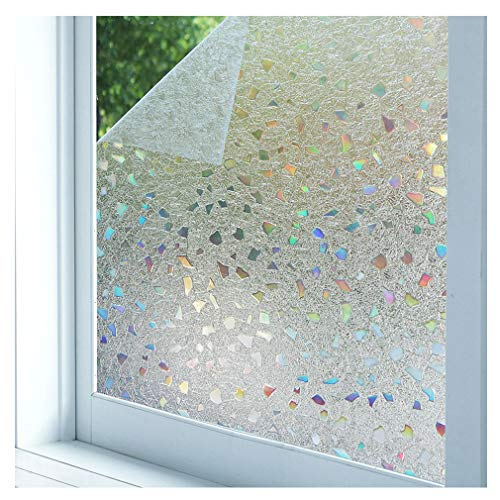 Bloss 3D Static Cling Window Film Stained Glass Window Film Decorative Frosted Window Clings Vinyl Window Covering 17.7Inch x 78.7Inch 1 Roll by Bloss