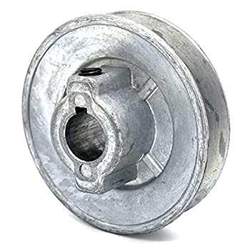Phoenix Mfg - 5//8 Bore V-Groove Drive Pulley Steel 9 Dia