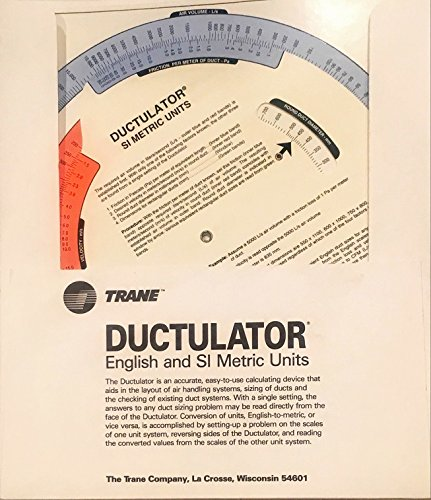 (Ductulator English and SI Metric Units (Trane Air Conditioning))