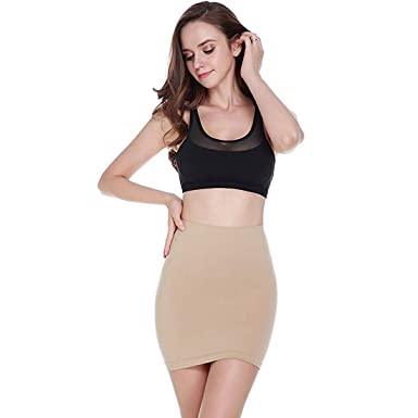 72ee89c695458 MUKATU Women s High Waist Slimming Half Slip for Under Dresses Control  Skirt Firm Tummy Control Shapewear at Amazon Women s Clothing store