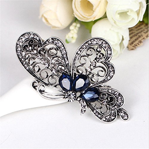 NEW Fashion Women Butterfly Crystal Hair Clip Hairpin Barrette Accessories YK
