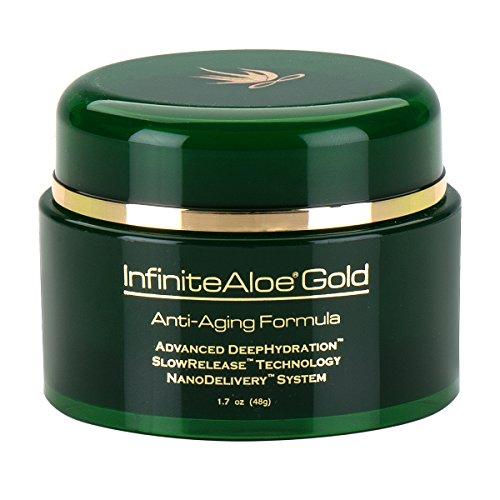 InfiniteAloe Gold Anti-Aging Formula 1.7 oz Jar (Plus a bonus 1/2 oz travel size!)