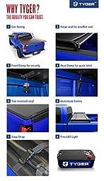 Tyger Auto TG-BC3D1015 Tri-Fold Tonneau Bed Cover Fits 2009-2017 Dodge Ram 1500 5.8\' Short Box