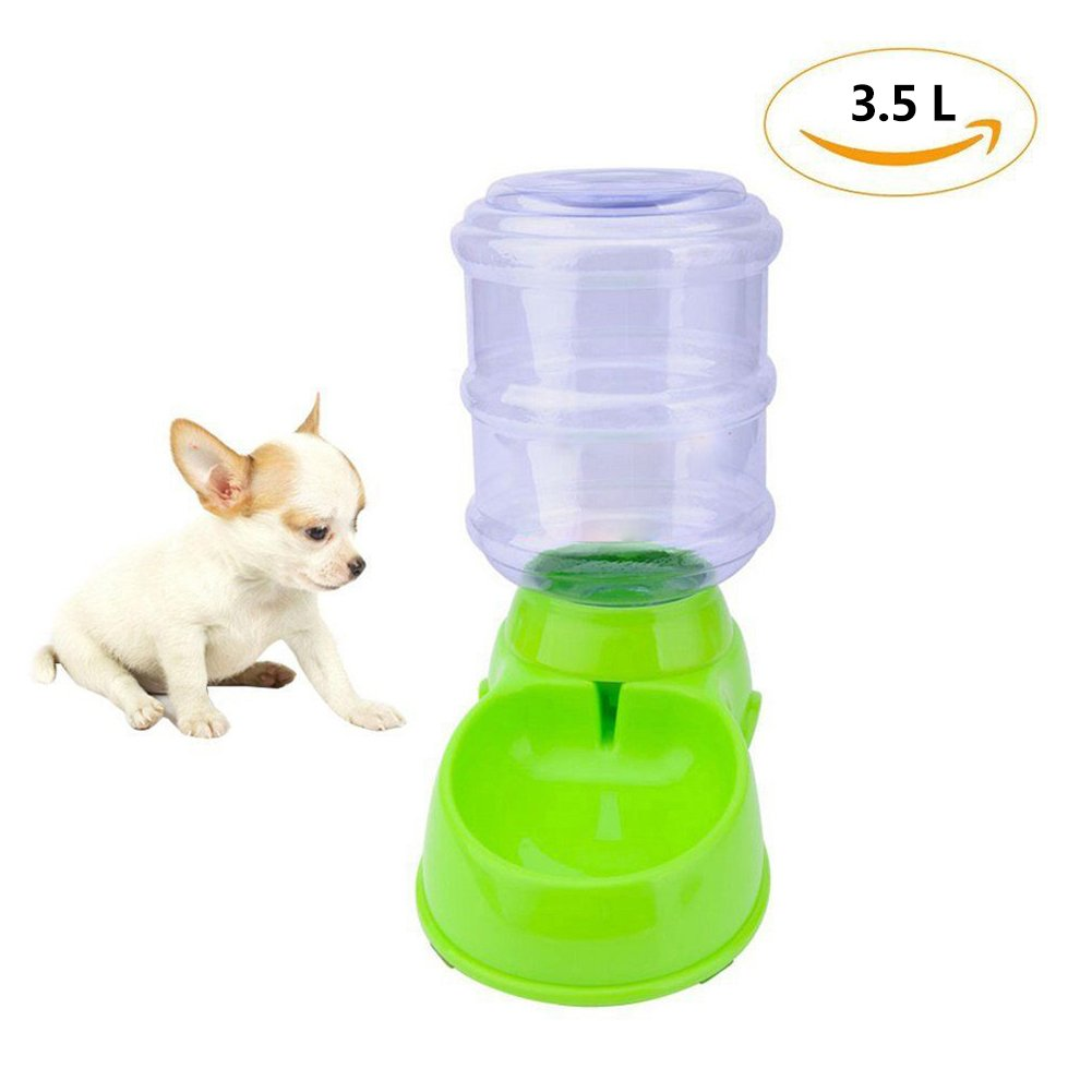 Pet Feeder by SoundsBeauty, Dog Food Dispenser, Large Capacity Cat Water Bowl - 3.5L (Green)