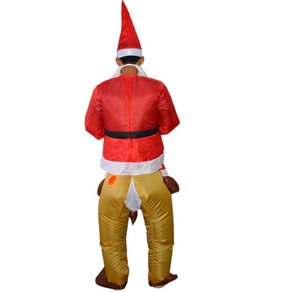Amazon.com: Disfraz hinchable de Papá Noel con diseño de ...
