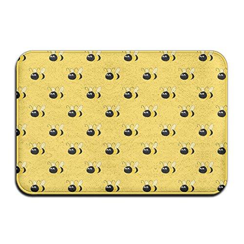 Qbeir Bumblebee Non-Slip Door Mat Doormat Door Mats Rug Entrance Mat Entry Rugs