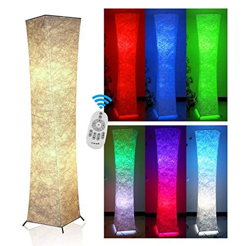 "Floor Lamp,Fy-Light 52"" Twist Column Remote Control Fabric M"