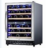 Nevada Cantinetta vino 46 bottiglie doppia zona entrambe regolabili 5-22° uniche sul mercato
