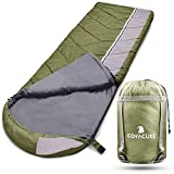 Camping Sleeping Bags for Adults - 3 Season Warm & Cool Weather, Lightweight & Waterproof Bag for...