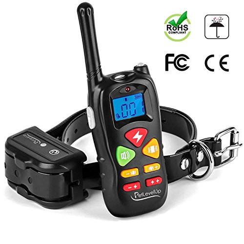Shock Collar for Dogs - Dog Training Collar with Remote Control 1000 feet - Rechargeable and Waterproof Electric Collar for Large Medium Small Dogs ()