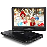 """NAVISKAUTO 12"""" Portable Blu Ray DVD Player Support HDMI Out, Sync Screen, 1080P Video, Last Memory, USB SD, Dolby Audio"""