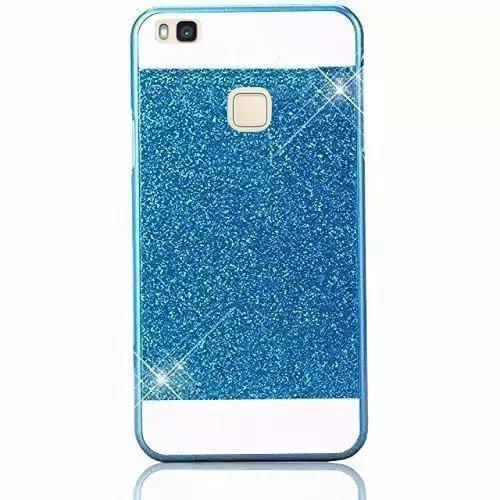 Huawei P9 Lite Funda, Vandot Hybrid Diseño 3 en 1 Cáscara Dura de la PC Recubrimiento Metálico Marco Chapado Matte de Lujo Hard Caja de Telefono Duro Protección Cubierta Case Cover para Huawei P9 Lite SSK-Bleu