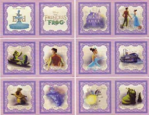 Quilted Frog (Disney's the Princess & the Frog Fabric Book Panel Prince Naveen, Tiana & More (Great for Quilted Book Kit, Quilting, Sewing, Craft Projects, Wall Hangings, Throw Pillows and More) 35