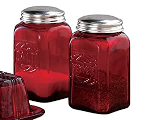 Miles Kimball Red Depression Glass Salt & Pepper Shakers