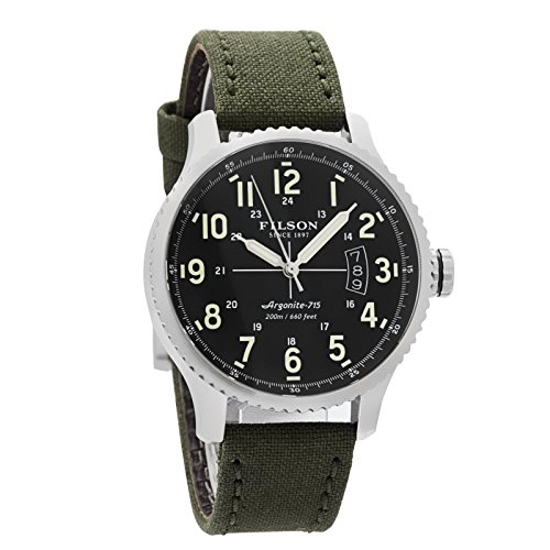 Luminova Markers (Filson Unisex Mackinaw Field Watch 43 mm Black One Size)