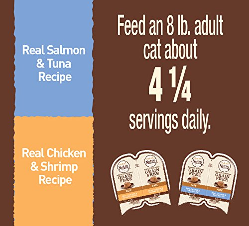 Nutro PERFECT PORTIONS Pate Multi-Pack Real Salmon & Tuna and Real Chicken & Shrimp Wet Cat Food Trays 2.65 Ounces (24 Twin Packs) by Nutro (Image #6)