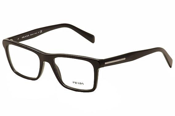4e190825522 PRADA PR 06RV Eyeglasses 1AB1O1 Black 55-18-145  Amazon.co.uk  Clothing