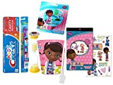 Disney Doc McStuffins 6pc All Inclusive Girls Bathroom Collection! Toothbrush, Toothpaste, Brushing Timer, Rinse Cup, Night Light & Reward Tattoos! Plus Bonus ''Remember to Brush'' Visual Aid!
