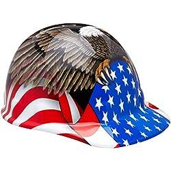 Fibre-Metal by Honeywelll E2RW00A006 Spirit of America cap with Ratchet Brim Safety Hat