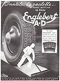 1937 Print Ad Automobile Tires Tyres Englebert A.D. Lamelles Mobiles