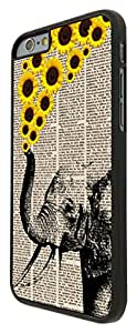 570 - Funky Aztec elephant Floral Sunflowers TrunkDesign For iphone 6 4.7'