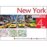 New York PopOut Map, 4 maps (Popout Maps)