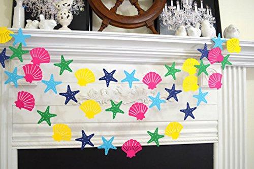 seashell-starfish-garland-nautical-wedding-nautical-birthday-lilly-inspired-colors-seashell-starfish