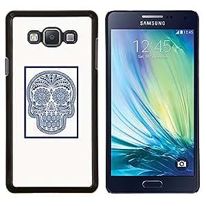 "Be-Star Único Patrón Plástico Duro Fundas Cover Cubre Hard Case Cover Para Samsung Galaxy A7 / SM-A700 ( Marble Tile Cráneo indio Patrón de arte"" )"