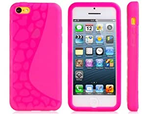 Beautyforall Irregularity Dot Pattern Plastic Case with Front Touch Cover for Iphone 5c Best Seller (Pink01)