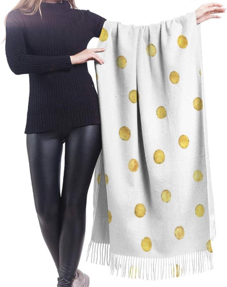 27x77 Wrap Shawl Beautiful Dot Element Cartoon Cashmere Travel Scarf Womans Shawl Wrap Stylish Large Warm Blanket