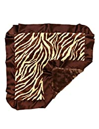 "Bubblegum Divas Brown Giraffe Plush Small Baby Blanket 14"" X 14"" inches square"