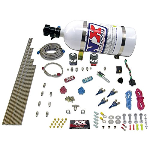 (Nitrous Express 80004EFI-12 50-200 HP 4-Cylinder Gasoline EFI Piranha Nozzle System with 12 lbs. Composite Bottle)