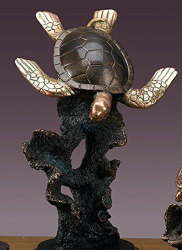 """Sea Turtle Bronze Figurine- 8"""" x 11.5"""""""