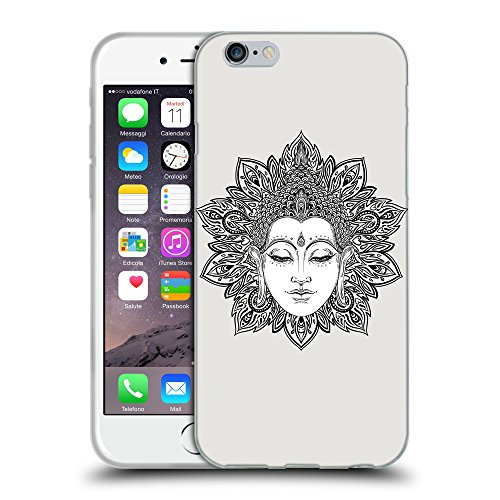 GoGoMobile Coque de Protection TPU Silicone Case pour // Q09180631 visage de Bouddha 2 Platine // Apple iPhone 7