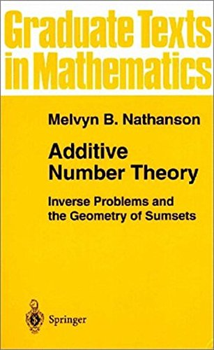 Additive Number Theory: Inverse Problems and the Geometry of Sumsets (Graduate Texts in Mathematics) (Vol 165)