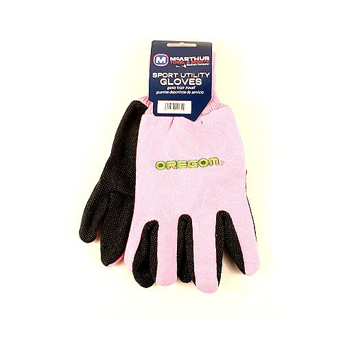 MaCarthur Oregon Ducks Pink Knit Jersey Utility Gripping Adult NCAA Gloves
