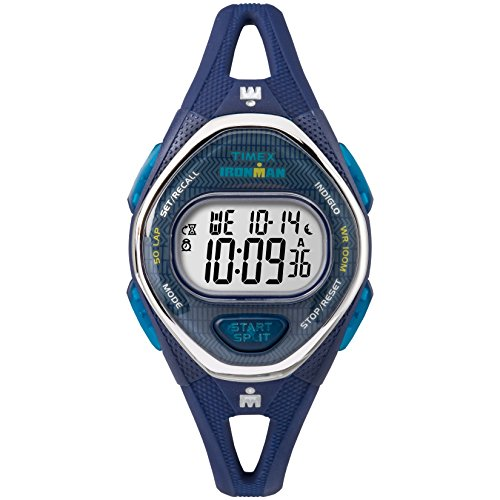 Timex Women's TW5M13600 Ironman Sleek 50 Navy Silicone Strap Watch